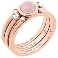 MICHAEL Michael Kors Michael Kors Easy Opulence Rose Quartz & Crystal Ring