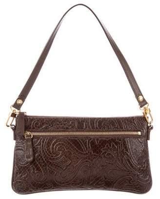 Etro Embossed Leather Pochette