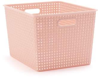Sonoma Goods For Life SONOMA Goods for Life Basketweave Plastic Storage Bin