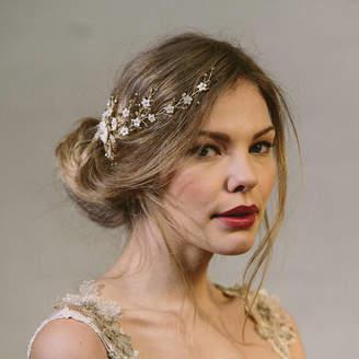 Carlisle Debbie Sylvie Crystal And Pearl Wedding Hair Vine Bridal Comb
