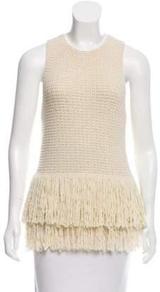 Celine Wool Knit Sleeveless Top