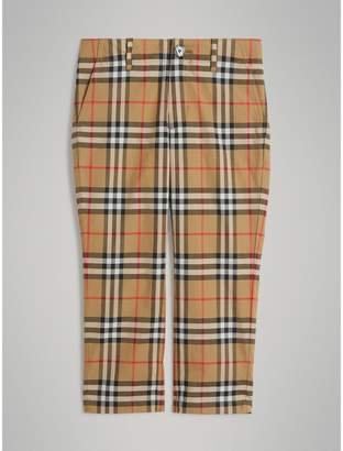 Burberry Vintage Check Cotton Tailored Trousers