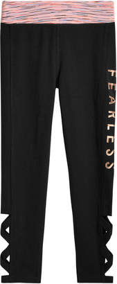 Ideology Fearless Caged-Hem Leggings, Big Girls, Created for Macy's