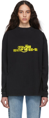 Off-White Off White Black and Yellow Halftone Over Mock T-Shirt