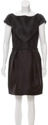 Zac Posen Houndstooth Silk Dress