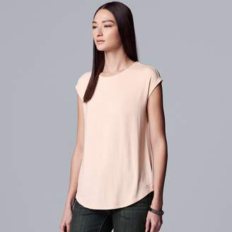 d528be1c Vera Wang Women's Simply Vera Everyday Movement Twist-Back Tee