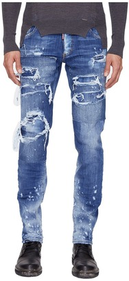 DSQUARED2 - Slim Strapped Wash Jeans Men's Jeans $775 thestylecure.com