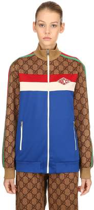 Gucci Gg Printed Zip-Up Jersey Track Jacket