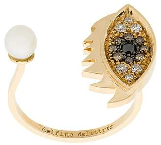Delfina Delettrez 18kt yellow gold Eyes on Me Piercing ring