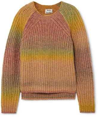 Acne Studios Kyla Ribbed-knit Sweater - Yellow