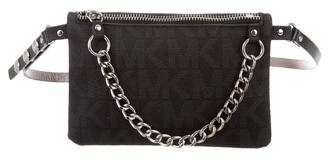 Michael Kors Michael Chain-Link Monogram Waist Bag