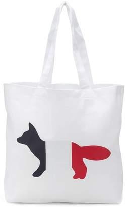 MAISON KITSUNÉ tricolour fox bag
