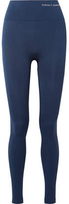 Perfect Moment Paneled Stretch Leggings - Navy
