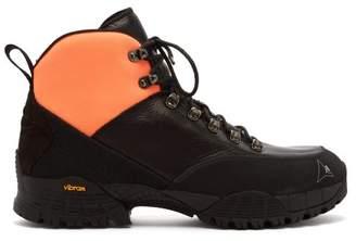1017 Alyx 9sm - Neoprene Cuff Leather Hiking Boots - Mens - Black