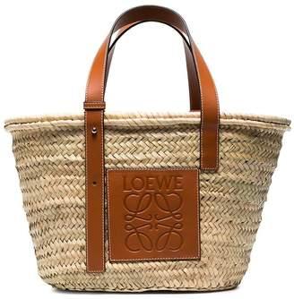 Loewe Raffia medium basket bag