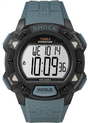 Timex Men's Expedition Base Shock Blue/Black Watch, Resin Strap