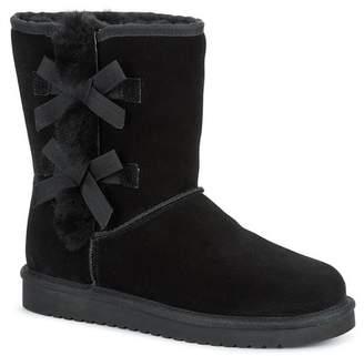 Koolaburra BY UGG Victoria Short Genuine Sheepskin & Faux Fur Boot