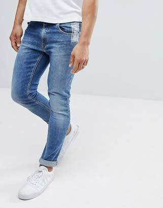 Love Moschino Skinny Fit Jeans With Back Tab Branding