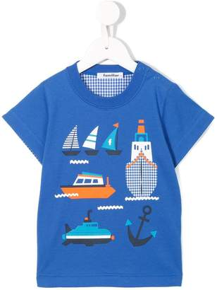 Familiar nautical print T-shirt