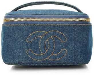 3e8b2eb9ee7bc9 ... What Goes Around Comes Around · Chanel Blue Denim Vanity Case Wide