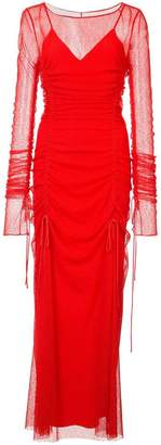 Diane von Furstenberg ruched sheer dress