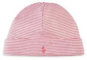 Ralph Lauren Girls' Striped Hat - Baby