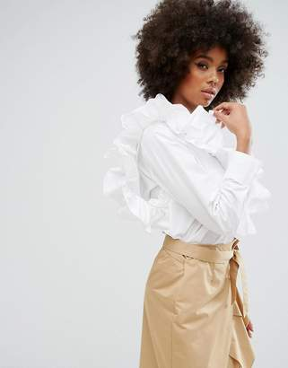 Style Mafia Adjustable Frill Detail Shirt $198 thestylecure.com