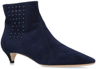 Tod's Stud Panel Suede Ankle Boots