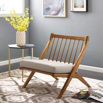 Mid-Century MODERN Southern Enterprises Califa Armless Accent Chair, Midcentury Modern, Desert Sand