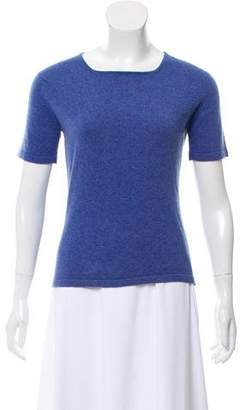 Bergdorf Goodman Cashmere Short Sleeve Top