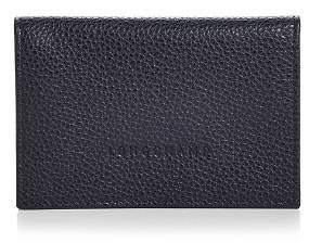 Longchamp Flap-Closure Leather Card Case
