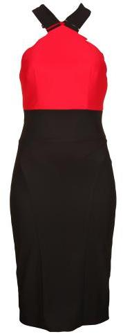 Forever Unique Women's Betsy Black & Red Bodycon Dress