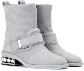 Nicholas Kirkwood Casati suede ankle boots