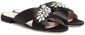 Miu Miu Embellished satin sandals