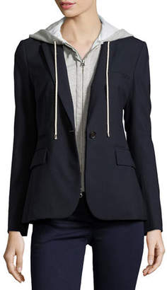 Veronica Beard Classic Crepe Jacket, Navy $545 thestylecure.com