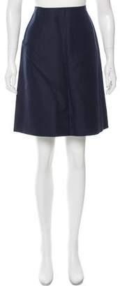 Celine Linen A-Line Skirt