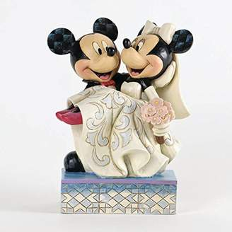 Disney Traditions by Jim Shore Mickey and Minnie Mouse Cake Topper Stone Resin Figurine