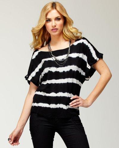 Raw Cut Striped Sweatshirt