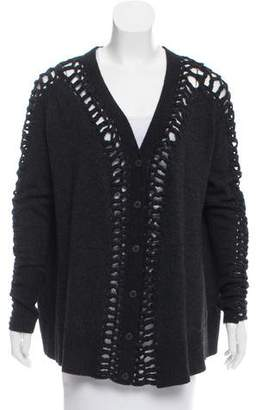 AllSaints Long Sleeve Button-Up Cardigan