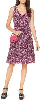 MICHAEL Michael Kors Floral-Print Fit-and-Flare Dress