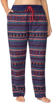Cuddl Duds Plus Size Printed Fleece Pajama Pants