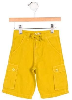 Emile et Ida Boys' Linen-Blend Cargo Shorts w/ Tags