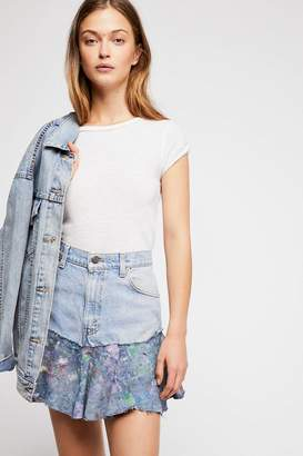 Rialto Jean Project Painted Denim Skirt