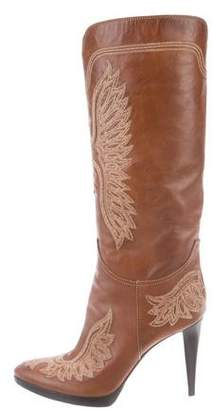 Sergio Rossi Leather Mid-Calf Boots