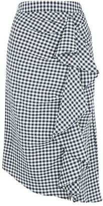 Topshop Gingham ruffle midi skirt $75 thestylecure.com