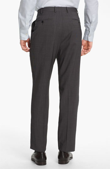Canali Men's Flat Front Wool Trousers