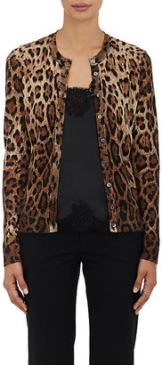 Dolce & Gabbana Women's Leopard-Print Cashmere-Silk Cardigan $1,495 thestylecure.com