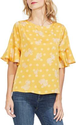Vince Camuto Paisley Elbow Sleeve Top