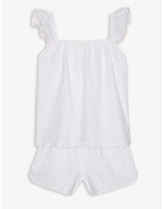 The Little White Company Swiss dot woven cotton pyjamas 7-12 years