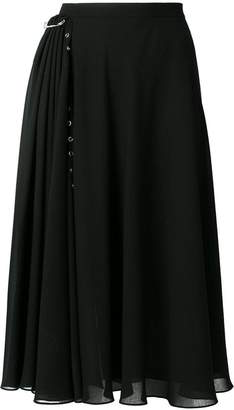 Versus flared midi skirt